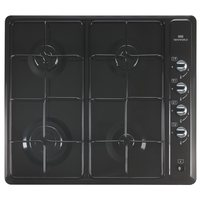 New World Black Coated Stainless Steel 4 Gas Burner Hob LPG Compatible
