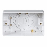 KnightsBridge Pure 25mm 2G Pattress Box With Earth Terminal For PURE Range