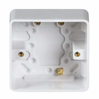 KnightsBridge Pure 47mm 1G Pattress Box With Earth Terminal For PURE Range