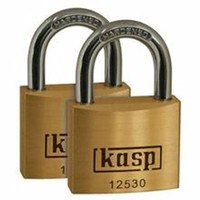 Kasp 30mm Hardened Steel & Brass Security Padlock - 2 Pack
