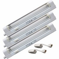 KnightsBridge T4 6W Linkable Fluorescent Fitting With Diffuser - Triple Pack