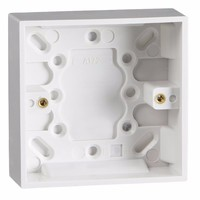 1 Gang 25mm Single Surface Mounting Pattress Box by KnightsBridge