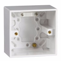 KnightsBridge 1 Gang 47mm Single Surface Pattress Box With Earth Terminal