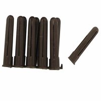Zexum Brown Plastic 4-6mm Rawl Wall Plugs
