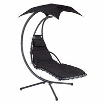 Zexum Black Swinging Helicopter Garden Relaxation Dream Chair