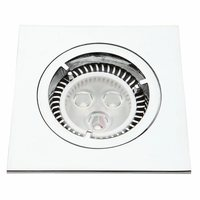 KnightsBridge Die-Cast MR16 50mm Low Voltage Square Downlight