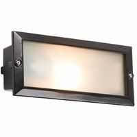 KnightsBridge IP44 E27 Aluminium Brick Light With Extra Louvred Cover