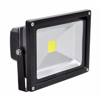 Lighthouse IP65 Ultra Efficient LED Black Aluminium Photocell Floodlight