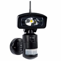 NightWatcher LED Robotic Security Light with WiFi & HD Camera - Black