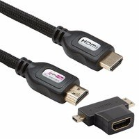 KnightsBridge High Speed HDMI 3D 4K Cable With Adapter - 3 Meter