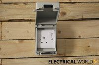 Europa IP65 1 Gang Weatherproof Outdoor Socket & Switch Accessory Box