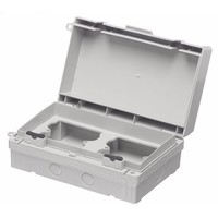 Europa IP65 Twin 2x1G Weatherproof Outdoor Switch & Socket Accessory Box