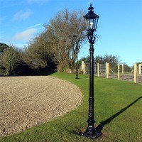 Zexum 9Ft Traditional Black Garden Street Light