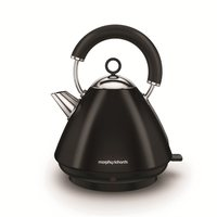 Morphy Richards Accents Pyramid Kettle - Metallic Black