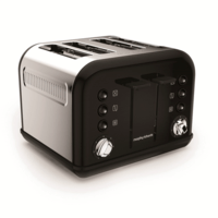 Morphy Richards Black Accents 4 Slice Toaster