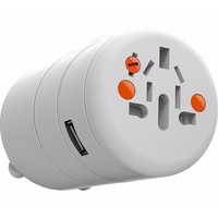 Oneadaptr TWIST World Adaptor Plug Socket & 1x USB