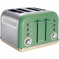 Morphy Richards Sage Green Accents 4 Slice Toaster