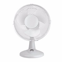 Zexum White 9 Inch Oscillating Portable Desk Fan