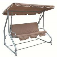 Zexum Cream Swinging 3 Person Bench & Hammock Bed