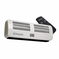 Dimplex 3kW Remote Control Electric Over Door Heater Multi-directional Down Flow Fan