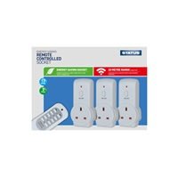 Status 20M Eco Remote Switch Control Mains Power Plug Socket - 3 Pack (Option: )