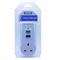 Status Plug In RCD UK 3 Pin 13A Power Breaker Safety Outlet Adaptor
