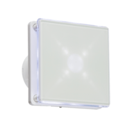 "KnightsBridge 4"" LED Backlit Bathroom Wall & Ceiling Extractor Fan w/ Timer"