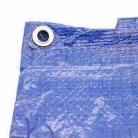 6Ft x 4Ft Heavy Duty Blue Weatherproof Tarpaulin by Zexum