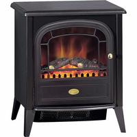 Dimplex Club 2kw Stove LED Electric Fire Black Style with Remote Control