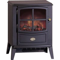 Dimplex Brayford LED 2kw Stove Electric Fire Black Style Remote Control