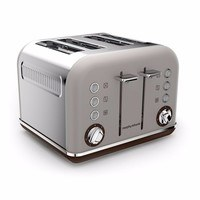 Morphy Richards Pebble Grey Accents 4 Slice Toaster
