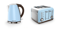 Morphy Richards Azure Blue Accents Jug Kettle & 4 Slice Toaster Set