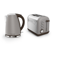 Morphy Richards Pebble Grey Accents Jug Kettle & 2 Slice Toaster Set