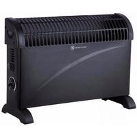 Kingavon Adjustable Black Electric Fan Room Heater