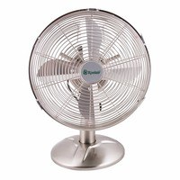 Xpelair Classic 12 Portable Desk Fan - Brushed Chrome