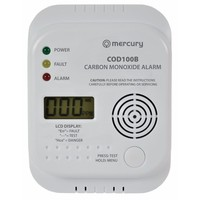 Mercury Carbon Monoxide Digital Alarm
