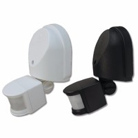 Eterna External 180° PIR Detector - Black / White