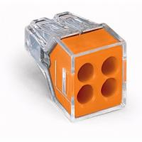 WAGO 4 Way Push-In Toolless Wire Connector / Single
