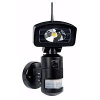 Night Watcher Robotic PIR LED Security Light & Camera  - Black
