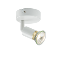 KnightsBridge Ceiling Light GU10 50 Watt Single Spotlight White LED Compatible