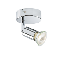 KnightsBridge Ceiling Light GU10 50 Watt Single Spotlight Chrome LED Compatible