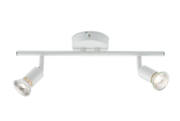 KnightsBridge Ceiling Light GU10 50 Watt 2 Spotlight Bar White LED Compatible