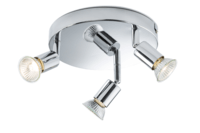 KnightsBridge Ceiling Light GU10 50 Watt 3 Spotlight Bar Chrome LED Compatible