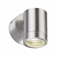 KnightsBridge 3W IP65 GU10 LED Brushed Aluminum Wall Light