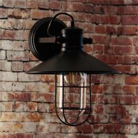 Greenhall Lighting Gracefield Wire Guarded Traditional Vintage Iron Wall Light