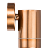 KnightsBridge IP65 GU10 35W Fixed Wall Light - Brushed Copper