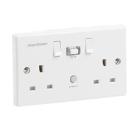 Greenbrook 2 Gang Switched  Passive RCD Plug Socket