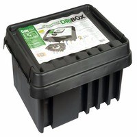Dribox IP55 Weatherproof Powercord Connection box 330mm Black