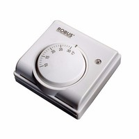 White Heating Cooling Indoor Room Thermostat by Robus