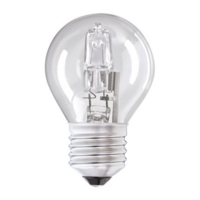 Status 28W Halogen Edison Screw Golf Ball Bulb